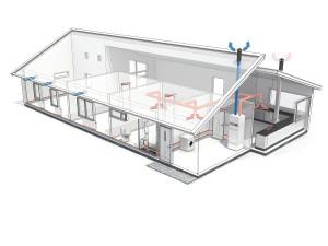 Systém ventilačního tepelného čerpadla