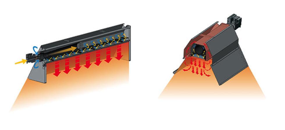 Princip funkce světlého keramického infrazářiče